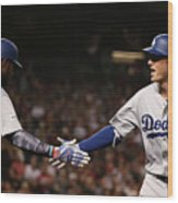 Yasiel Puig and Cody Bellinger Wood Print