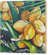 Yellow Coconuts Wood Print