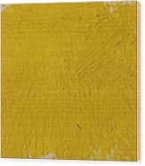 Yellow Paint Strokes Texture Wood Print