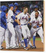 Yoenis Cespedes and David Wright Wood Print