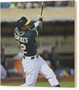 Yoenis Cespedes And John Jaso Wood Print