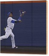 Yoenis Cespedes and Peter Bourjos Wood Print