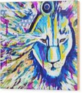 Zoom Lion Wood Print