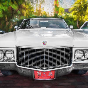 1970 Cadillac Coupe Deville Convertible Painted Bw