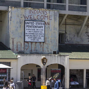 Alcatraz Entrance Indians Welcome Photograph by John McGraw