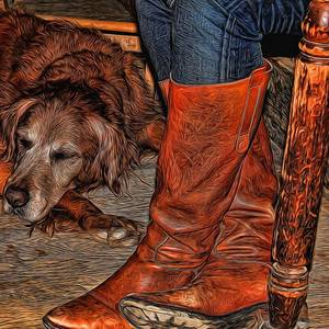 Luckenbach Texas Painted Photograph By Judy Vincent