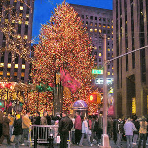 Christmas And City Lights Rockefeller Center 2006 2 By Muriel Levison  Goodwin
