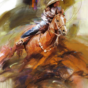Classic Rodeo 7b Painting By Maryam Mughal