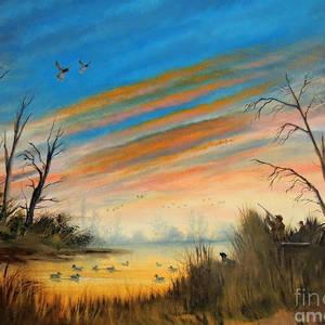 Happy Birthday Duck Hunter Painting By Bill Holkham