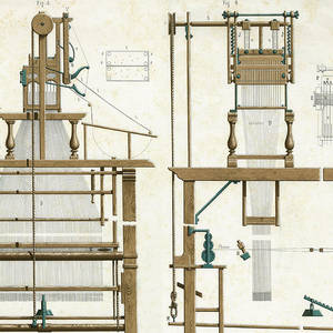 Jacquard Loom An Improved Version Drawing by Mary Evans
