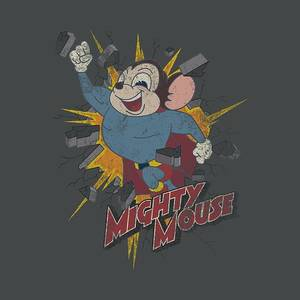 Mighty Mouse Classic Cartoon BREAK THROUGH Tank Top All Sizes