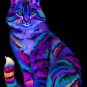 Радужный тигр, нарисованный Ником Густафсоном