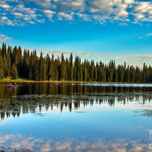 Alpine Lake Fishing Photograph By Robert Bales