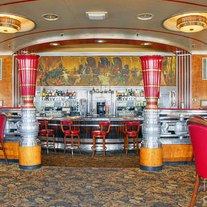 Rms Queen Mary Deco Bar And Lounge Long Beach Ca Photograph By David  Zanzinger