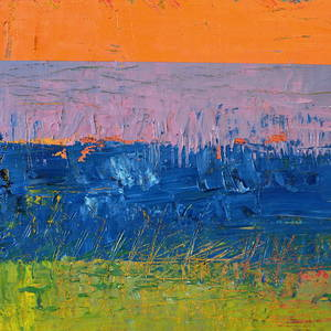 Orange And Blue Color Study Painting By Michelle Calkins