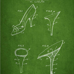 a1e2ca3dc0 Shoes And Heels Patent From 1958 - Charcoal Digital Art by Aged Pixel