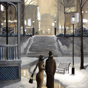 Hamilton Morning Painting by Dave Rheaume