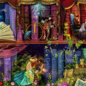 Fairytake Treasure Hunt Book Shelf Variant 4 By Aimee Stewart