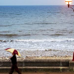 b98a8995d4 Silhouette Of A Beach Umbrella Photograph by Ben Welsh