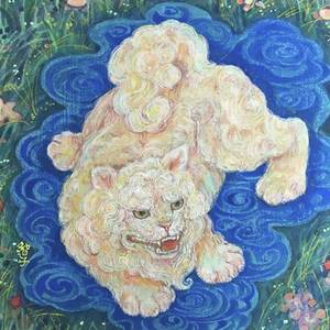 遊ぶ獅子#シーサーの絵 by Tomoko Nakai