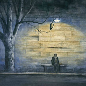 Image result for lonely bench painting