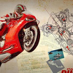 Ducati Panigale Digital Art By Yurdaer Bes