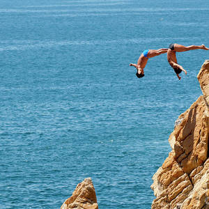 Famous Cliff Diver Of Acapulco Mexico Photograph by Anthony Totah