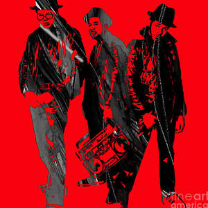 Run Dmc Collection Mixed Media by Marvin Blaine
