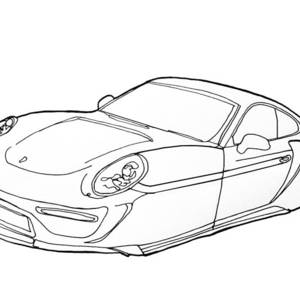 2209 toyota prius drawing by nate petterson  2199 porsche 911 by nate petterson