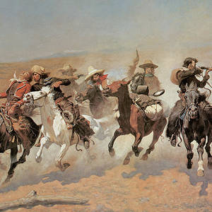 Against the Sunset Horse Art on Canvas Frederic Remington 1906