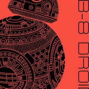 Bb8 Droid Star Wars Art Green Mixed Media By Studio Grafiikka