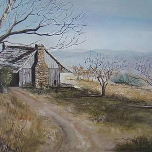 Cabin In The Valley Painting by Charles Roy Smith