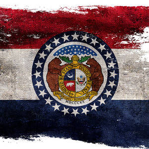 Distressed Missouri Flag On Black Photograph By Jon Neidert