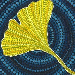 Beech Leaf Dot Painting Painting by Manny Carwile