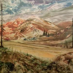 Approaching Showers Painting by John Vandebrooke