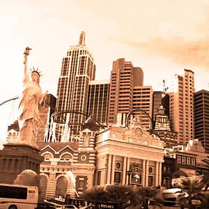 Vintage Las Vegas New York Photograph By Alex Antoine