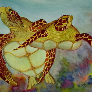 Loggerhead Reef Painting by Dave Combs