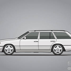 Stack Of Mercedes Benz W124 E-class Mixed Media by Monkey