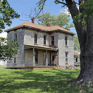 The Old Farmhouse, Rural Indiana Photograph by Steve Gass