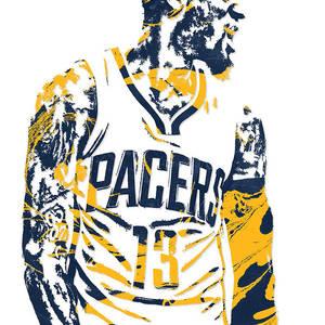 31cef9173 Paul George Oklahoma City Thunder Pixel Art 30 Mixed Media by Joe ...
