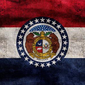 Distressed Missouri Flag Photograph By Jon Neidert
