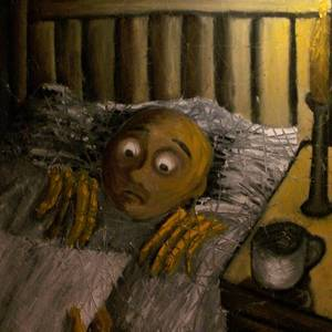 Your Bedtime Story Is So Scary Painting by Miro Gabriel