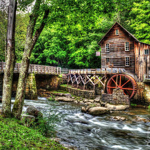 Glade Creek Grist Mill Babcock State Park West Virginia Photograph By Greg Hager