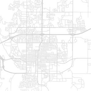Bismarck North Dakota City Street Map Blueprints Mixed Media ...