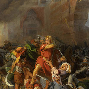 Battle Of Jaffa Richard The Lionheart 1192 Painting By