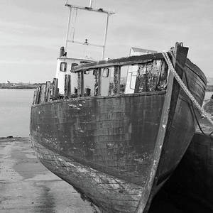 Heading Back Out Bw Donegal Photograph By Eddie Barron
