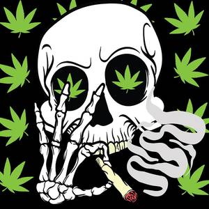 Ufo Alien Marijuana High Kush Fuma Marijuana Maglietta