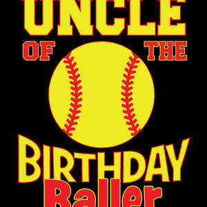 Uncle Of The Birthday Lady Softball Lover B-day Party product
