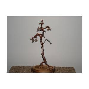22 Copper Literati With Alluminum Jin Wire Tree Sculpture Photograph By Ricks Tree Art
