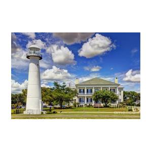 Biloxi Lighthouse And Visitors Center Photograph By Joan Mccool